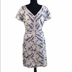 NWT Kay Unger Fit & Flair Light Jacquard Dress